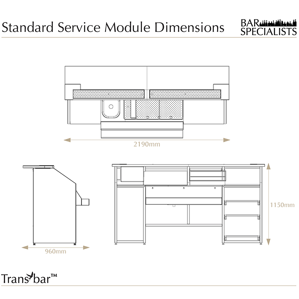Transbar overview events mobile bar design sale hire for Home bar dimensions