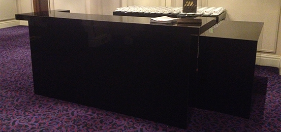 Mobile Bar Hire Piano Black Transbar